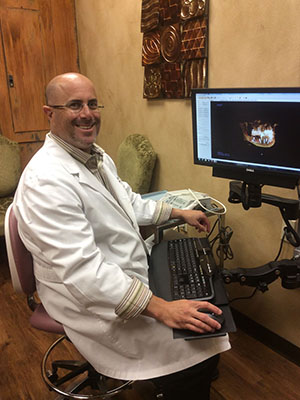Dr. Allard reviews a 3D digital xray